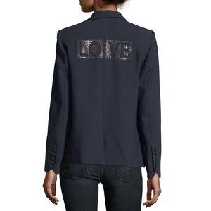 Zadig & Voltaire Victor Love One-Button Blazer
